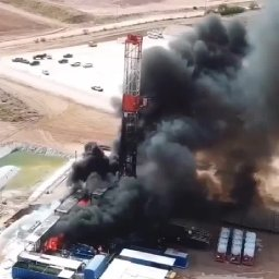 Patterson UTI Rig 289 Fire North of Big Spring Tx