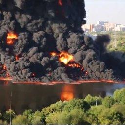 Moscow Underwater Pipeline Explosion
