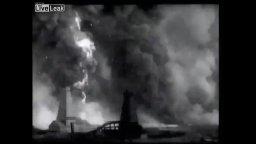 Rare 1898 Oil Well Fire Video