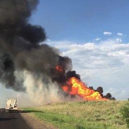 Canadian Texas Disposal Well Fire