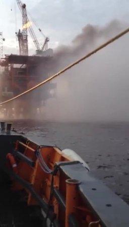 Foukanda 1 ENI Oil Platform Fire